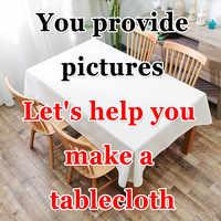 Benutzerdefinierte Wasserdicht Tischdecken Pflanzen Pastoralen Tisch Tuch Hintergrund Tuch Kunststoff Tisch Tuch Wohnkultur Manteles Toalha De Mesa