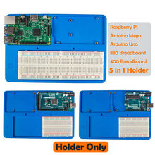 SunFounder RAB 5 in 1 Breadboard Holder Base Plate Circuit Board Screws for Arduino Uno R3 Mega 2560 Raspberry Pi 3 Model B
