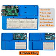SunFounder RAB 5 in 1 Breadboard Holder Base Plate Circuit Board Screws for Arduino Uno R3 Mega 2560 Raspberry Pi 3 Model B