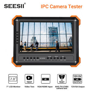 Image 1 - CCTV Tester Monitor 7 inch 4K 1080P IPC Camera CVBS Analog Touch Screen with POE HDMI ONVIF WIFI  ip camera tester