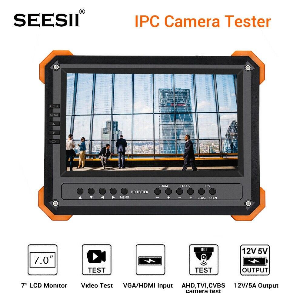 CCTV Testeur Moniteur 7 pouces 4 K 1080 P IPC Caméra CVBS Analogique Tactile Écran avec POE HDMI ONVIF WIFI ip caméra testeur