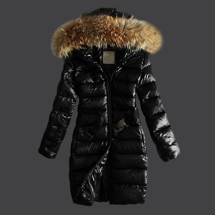 Puffer Jacket With Big Fur Hood Fashion Down Coat Women ...