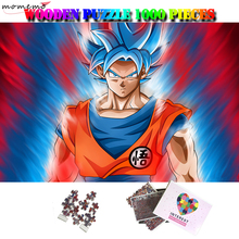 MOMEMO Son Goku Jigsaw Puzzle Wooden 1000 Pieces Dragon Ball Puzzles for Adults Wood Enfant Toys