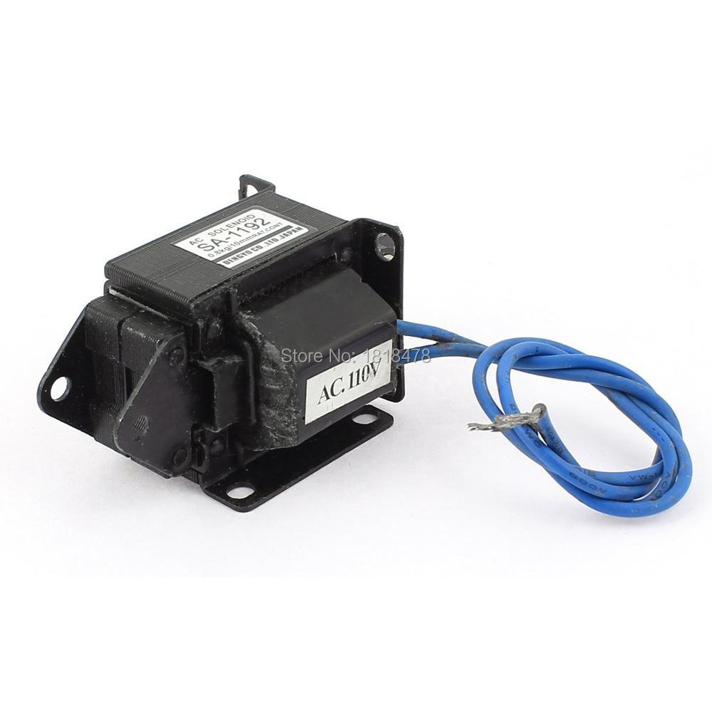 цена на SA-1192 AC 110V 10mm 0.8kg Push Pull Type Lift Magnet Solenoid Electromagnet