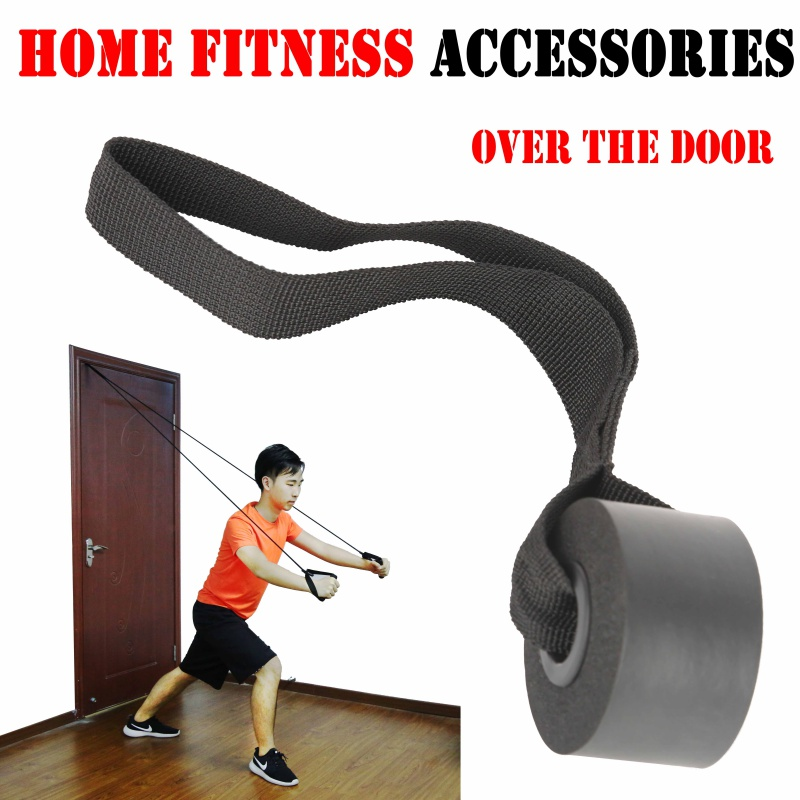 Galleria fotografica 1 PCS Fitness Resistance bands Fitness Yoga Pilates Latex Tube Training Exercise Over Door Anchor Elastic Bands Accessories