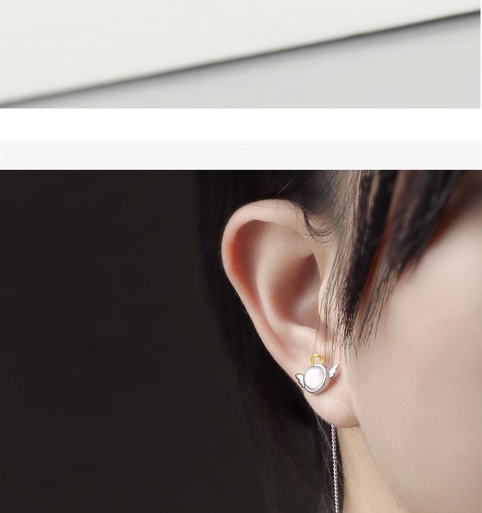 HTB1k Hllcj B1NjSZFHq6yDWpXa7 Thaya original angel design stud earrings s925 sterling silver wing crystal + shell long line earring for women ladies gift