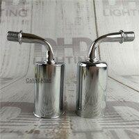 Ücretsiz kargo DIY duvar lamba tutucular of parlak gümüş renk demir kapak ile E14/E12 seramik soket 85mm köşe kol işık soket