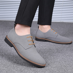 2019 High Quality Suede Leather Soft Shoes Men Loafers Oxfords Casual Male Formal Shoes Spring Lace-Up Style Men's Shoes 11