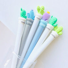 24 Pcs/lot Potted Creative Cactus Gel Ink Pen Promotional Gift Stationery School & Office Supply Birthday