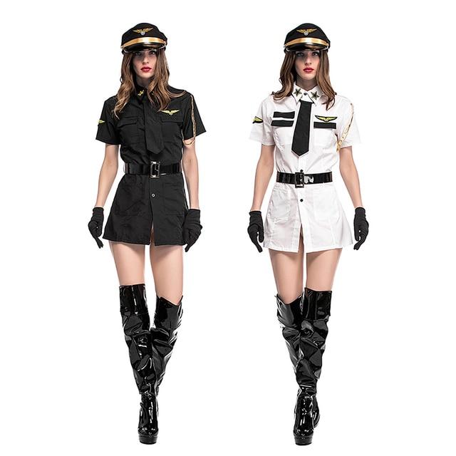c02bb33b0 New sexy Traje Da Polícia Adulto aviador Mulher Policial Role Playing  Vestido Adulto Sexo Roupas Cosplay