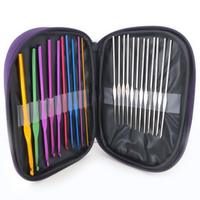 Hot Sales 22Pcs Multi-colour Aluminum Knitting Needles Knit Weave Craft Yarn Costura Crochet Hook Sewing Del Ganchillo 2017