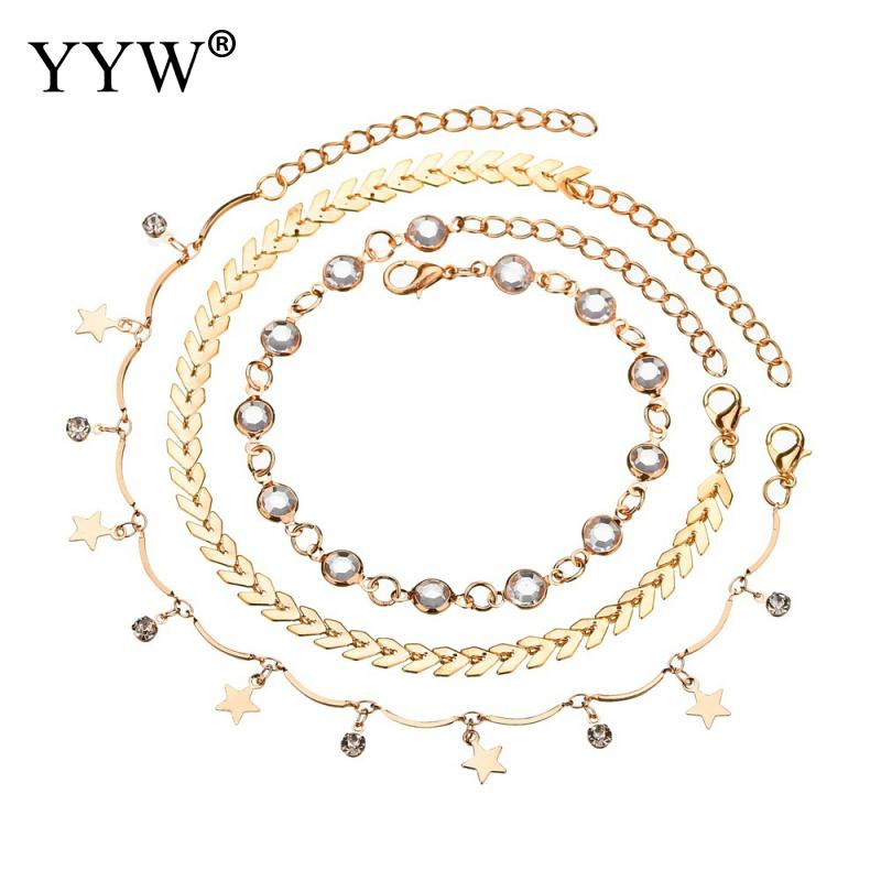 Leaf Anklets Women Long Chain Leg Bracelets Stainless Steel Anklet Fashion Jewelry Accesspries Female Beach Ankle Decorations in Anklets from Jewelry Accessories