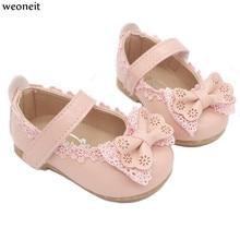 Weoneit детская кожаная обувь милая обувь для маленьких девочек обувь принцессы свадебные туфли с бабочками для маленьких девочек 3 цвета CN Размер 15-30