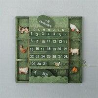 Miditerranean Sea Wooden Desk Calendar Desktop To Do List Daily Planner Book Office Desk Supplies Standing