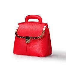Bright Red Top Quality Bridal Bag Women 2016 Trendy Fashion Litchi Stria Leather font b Handbag