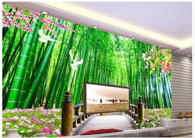 Dekorasi Rumah Bambu Kayu Jembatan Pemandangan Foto Wallpaper Untuk