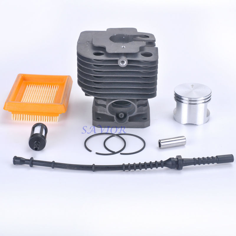42mm Cylinder Piston with Air Filter Fuel Line for STIHL FS450 4128 020 1211 Trimmer Brush Cutter Lawn Mower Tiller Engine 42 5mm crankshaft cylinder piston kits for stihl 023 025 ms230 ms250 chainsaw air fuel filter oil pump