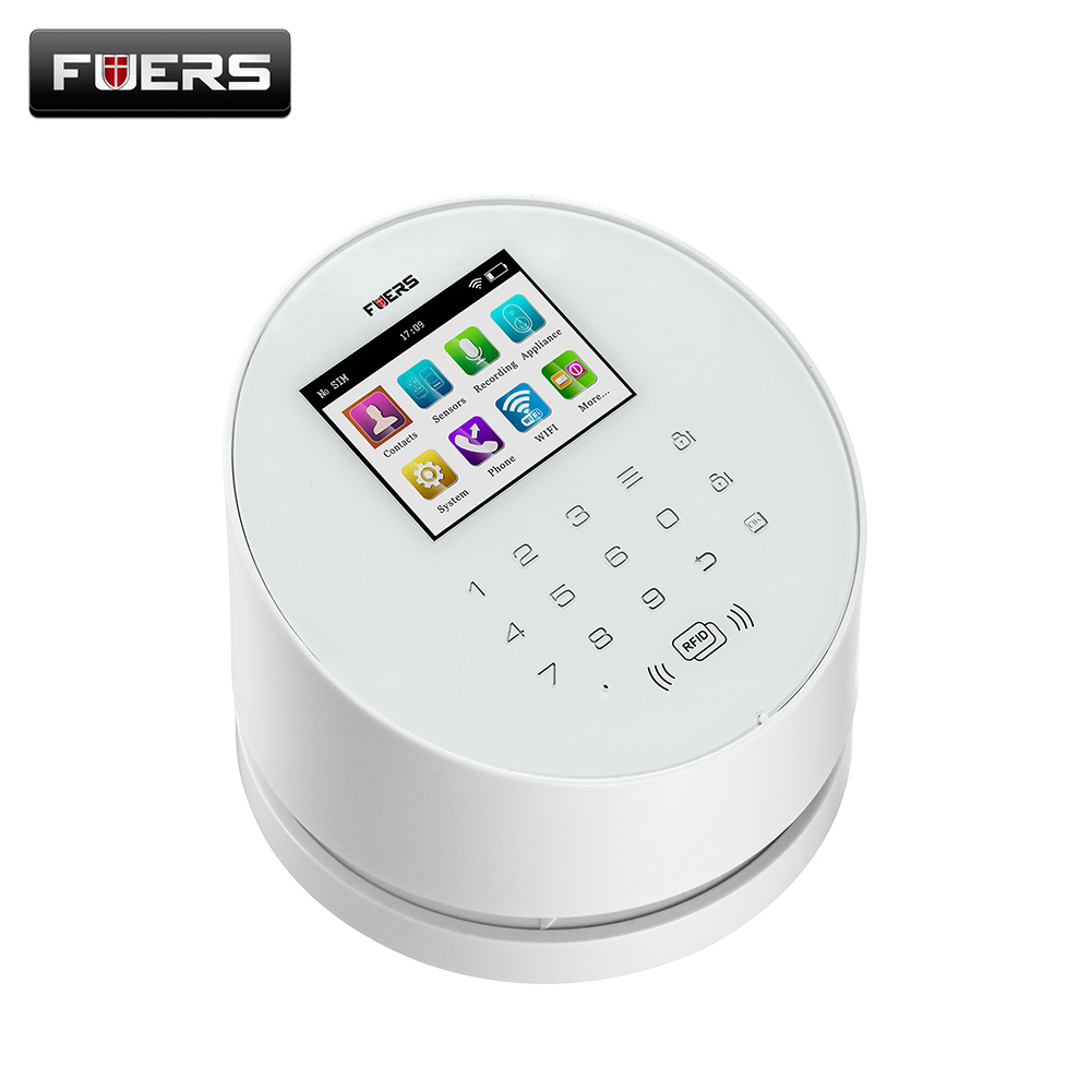 W2 GSM Wifi Alarm Systems Security Home with TFT Color UI menu LCD display
