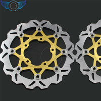 Hot Selling Motorcycle Accessories 2 Pieces Gold TE Front Brake Disc Rotor For Suzuki GSXR1000 2005