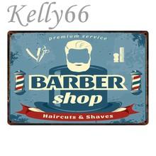 Kelly66  Negozio di Barbiere del mestiere del metallo Della Parete Della  Pittura di latta 46544ae1a58f
