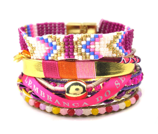 2016 brazilian bracelet ipanema handmade multi strand wristband Bohemian manchette bracalets bijoux boho Bracelet femme