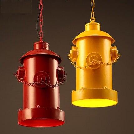 Loft Style Iron Droplight Industrial Vintage Creative Fire Hydrant LED Závěsná svítidla Retro Jídelna Závěsná Lampa