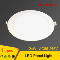 Panel Light 24W LED Ceiling Light Round Ultra Thin LED Downlight AC110 220V LED CE ROHS
