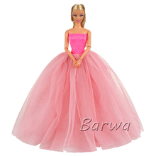 цены на New Small Doll China Girls Summer 2019 Birthday Party Princess Clothes Wedding Dresses For Barbie Doll Toy Children's Best Gift  в интернет-магазинах