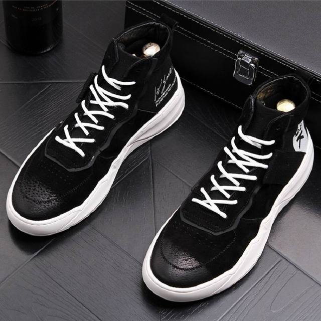 56acbaf533 ERRFC Fashion Forward Men Ankle Boots Fashion Round Toe Lace Up High Top  Casual Comfort Shoes Pig Suede Leather White Shoes 43
