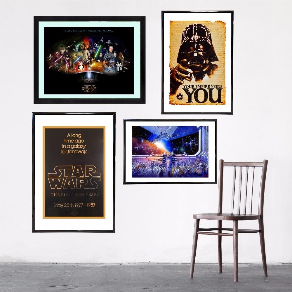 Star Wars Vintage Leinwand Kunstdruck Malerei Poster Mauerbilder Für ...