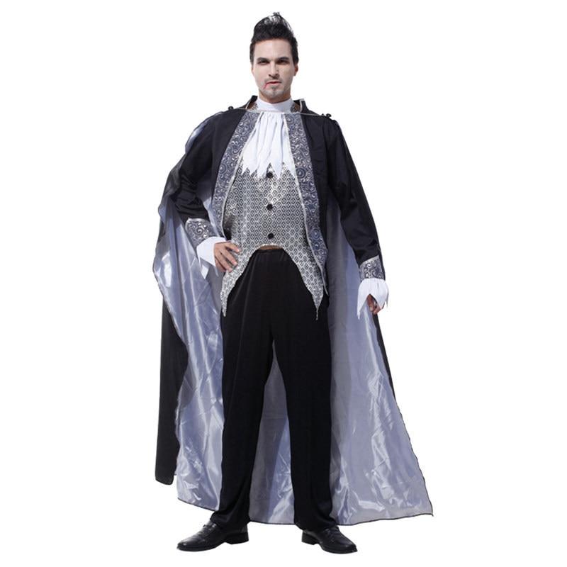 New Men Noble Vampire Cosplay Halloween European aristocracy costume Carnival Masquerade Stage performance gentleman Court dress