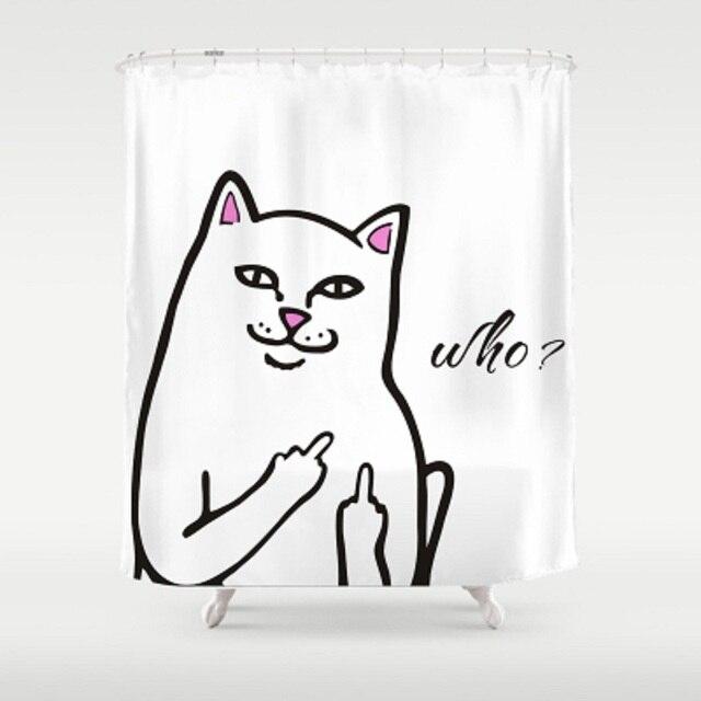 mehrere gre nette karikatur katze design badezimmer dusche vorhnge wasserdichte mehltau stoff bad vorhang mit - Stoff Vorhang Dusche