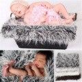 Newborn Fotografía Atrezzo Manta De Piel Sintética Bebé accesorios de Fotografía Fotografía Recién Nacido Manta De Piel Sintética De Piel Mongol