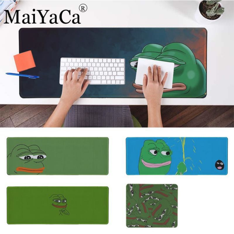 MaiYaCa High Quality pepe meme Gaming Mouse Pad Large Mouse Pad Gamer Big Mouse for league of legends mouse pad mousepad image