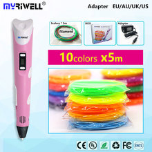 Painting-Pen 3d Filament 3d-Pens Myriwell Pla Kids Abs for Led-Display Graffiti Designed