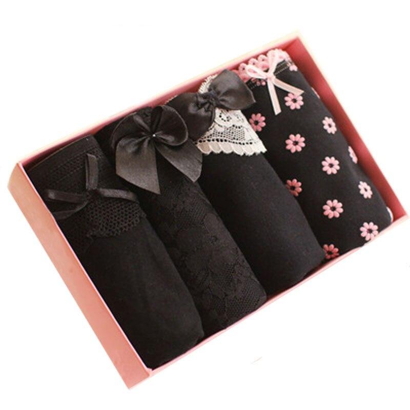 4Pcs/Lot Underwear Women Panties Cotton Panties Bragas Mujer Printed Sexy Briefs Girls Women Panty Ropa Interior Femenina Shorts