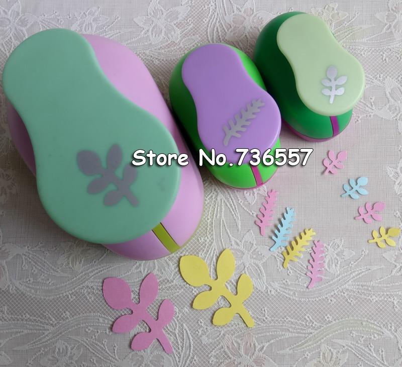 2 inch ( 4.8cm) 1inch (2.5cm) 5/8inch (1.6cm) leaf design of craft punch eva foam maker paper punches for scrapbooking shamrock