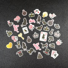 34pcs mini fairy tale Alice story design sticker as Gift Tag Christmas gift Decoration scrapbooking DIY Sticker