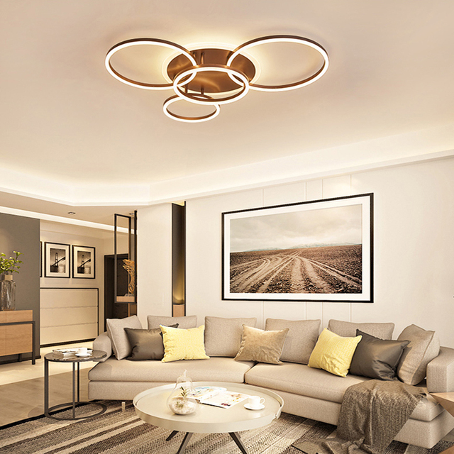 Chandelierrec Modern Led Ceiling Lights Ac85 265v Overhead Lighting For Living Room Bedroom Decor Home Lamps