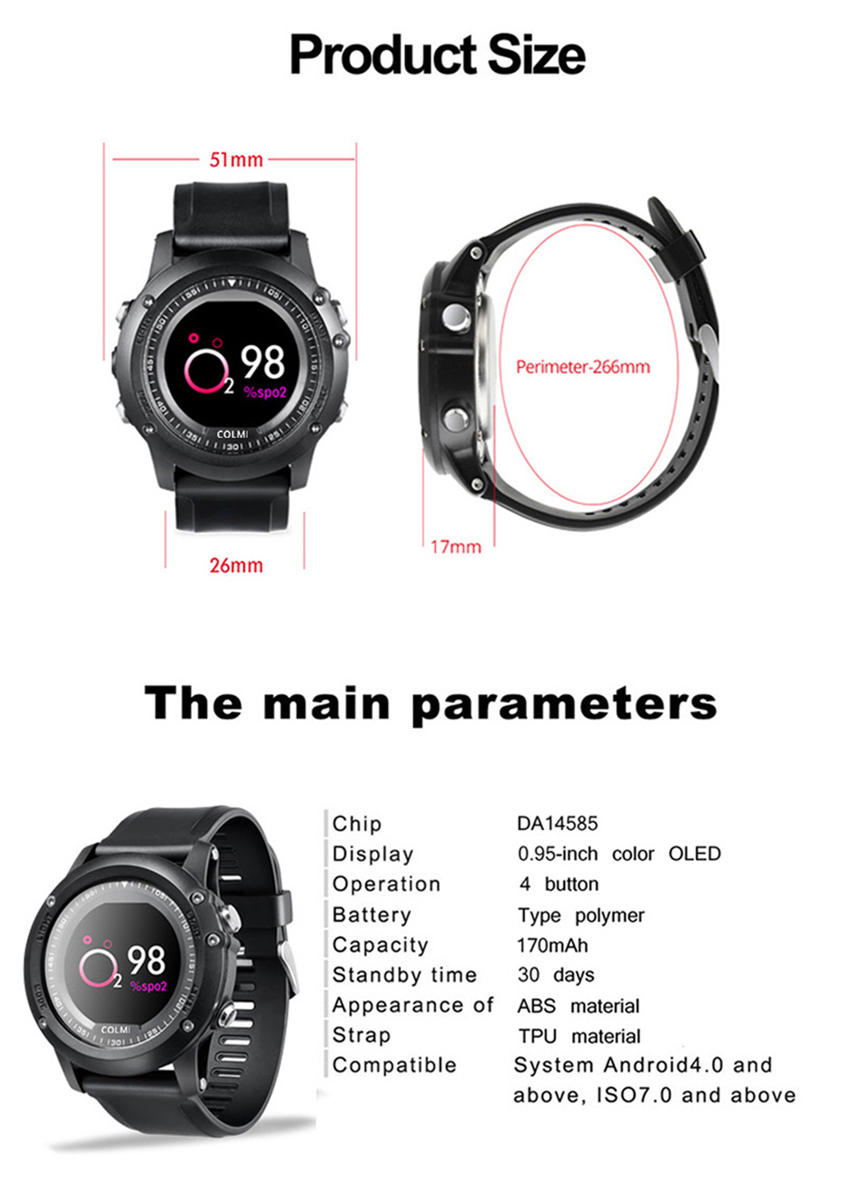 COLMI-T2-IP68-Waterproof-Heart-Rate-Monitor-Push-Message-Call-Reminder-Clock-Bluetooth-4.0-Brim-Men-Sport-Smart-Watch-18