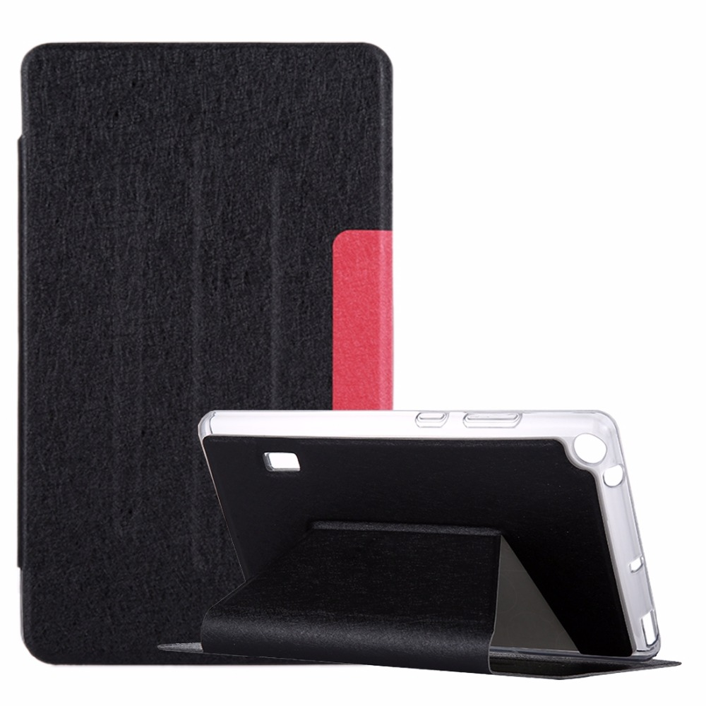 For Huawei MediaPad T3 7 inch Silk Texture Horizontal Flip Leather Case with Holder