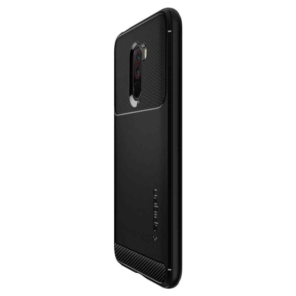 best service fbc17 bb852 100% Original SPIGEN Xiaomi POCOPHONE F1 Case Rugged Armor Matte Black  S23CS25224