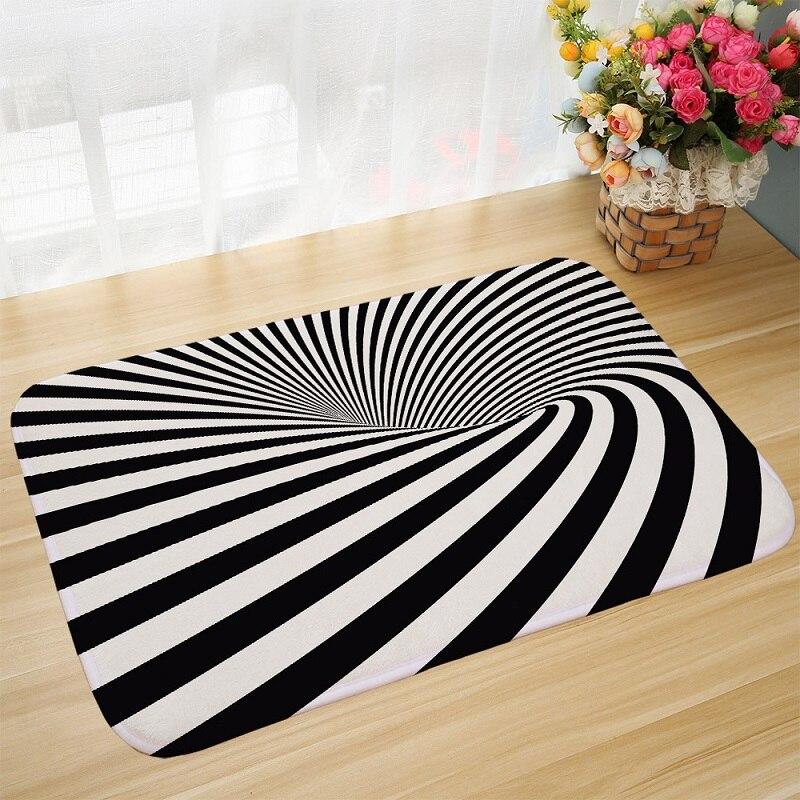 Black stripe carpet for living room home rugs mats area - Black living room rug ...