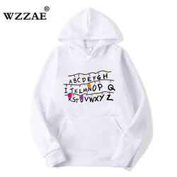 2018 Trendy Faces Stranger Things Hooded Mens Hoodies and Sweatshirts Oversized for Autumn with Hip Hop Winter Hoodies Men Brand 1