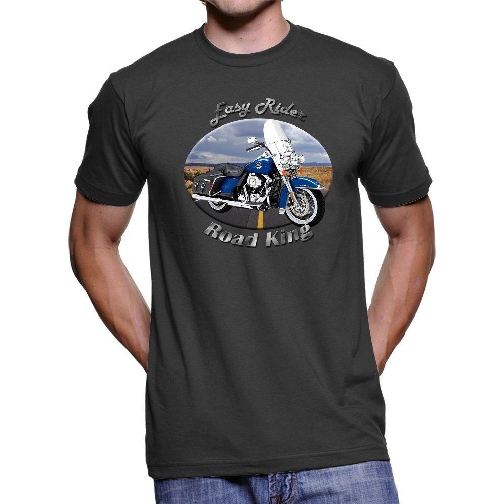 2018 Fashion Hot sale American Motorcycle Road King Easy Rider Mens Dark T-Shirt Tee shirt