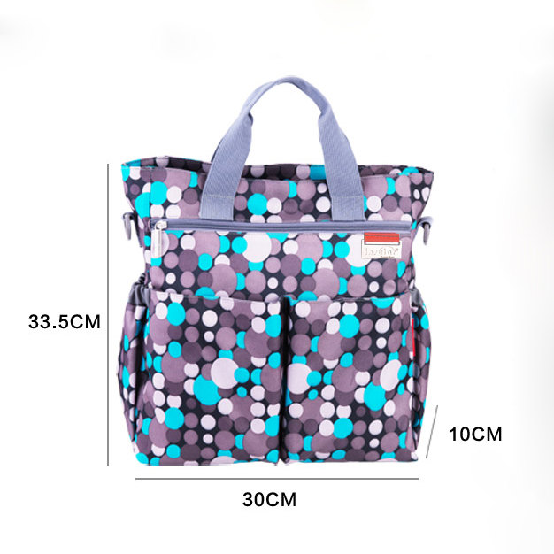 Купить с кэшбэком Baby Care Diaper Bag Multicolored Maternity Nappy Bags Multifunctional Baby Stroller Bags Mummy Mommy Shoulder Handbag