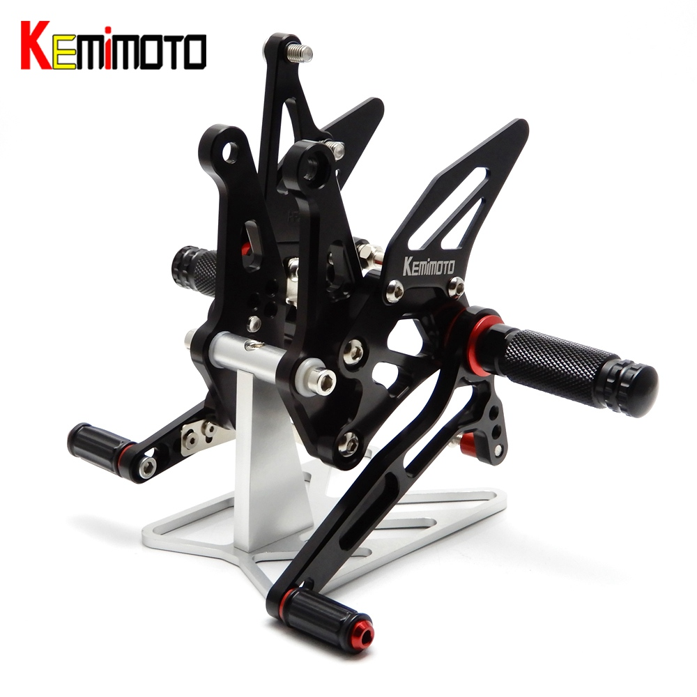 Kemimoto cnc réglable rearset repose-pieds pour kawasaki z1000 réglable repose-pied repose-pieds 2011 2012 2013 2014 2015