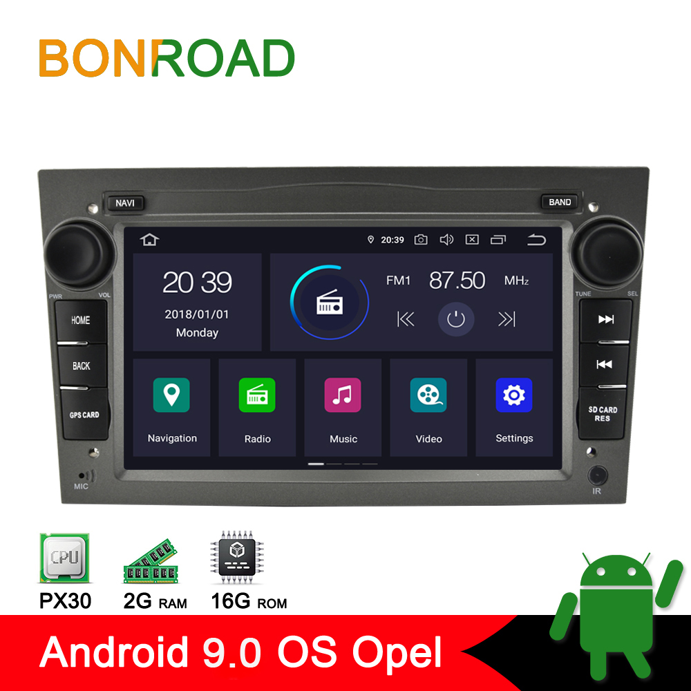 Bonroad 2DIN PX30 Car Radio GPS Navigation Android 9 0 Car multimedia player For Opel Astra
