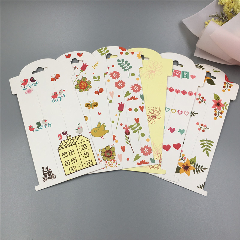 100Pcs/Lot 16x8 Hairpin Cards Printing Colorful Love Large Size Hair Clip Kraft Paper For Women Jewelry Accessory Holder Cards