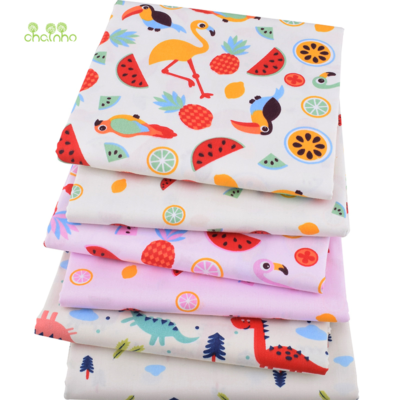 Chainho,6pcs/lot,Dreamland Cartoon Series,Printed Twill Cotton Fabric,Patchwork,DIY Sewing & Quilting Material,For Baby&Children